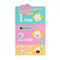 Holika Holika Golden Monkey Glamour Lip 3-Step Kit  金丝猴丰唇贴3部曲  5.5g