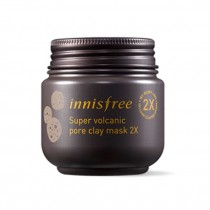Innisfree Super Volcanic Pore Clay Mask 2x  火山岩泥毛孔清洁倍净多效面膜2x  100ml