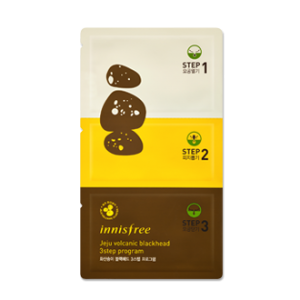 Innisfree Jeju Volcanic Blackhead 3 Step Program  火山岩泥毛孔清洁三步曲鼻贴