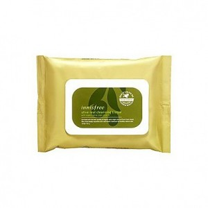 Innisfree Olive Real Cleansing Tissue  橄榄真萃洁面湿巾  30sheets