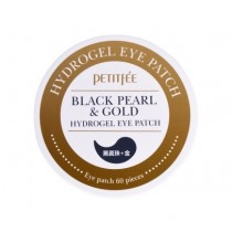 Petitfee Black Pearl & Gold Hydrogel Eye Patch 黑珍珠+金箔眼膜 (60片)