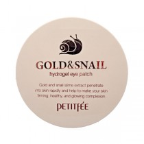 Petitfee Gold & Snail Eye Patch  黄金蜗牛凝胶眼膜  (60片)